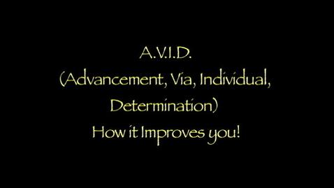 Thumbnail for entry A.V.I.D.