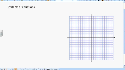 Thumbnail for entry Solving Systems by graphing