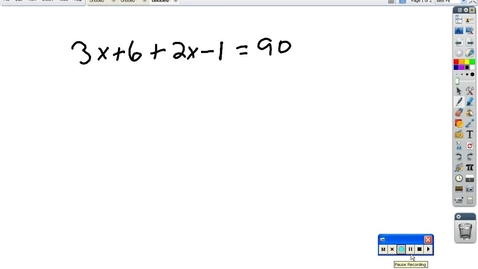 Thumbnail for entry Algebra Review: multi-step equations