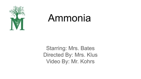 Thumbnail for entry Ammonia