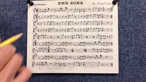 Thumbnail for entry End Zone 1st alto sax pt 1