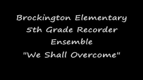 Thumbnail for entry Brockington Elem 5th Grade Recorder Ensemble
