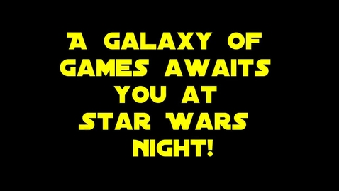 Thumbnail for entry Star Wars Night Games
