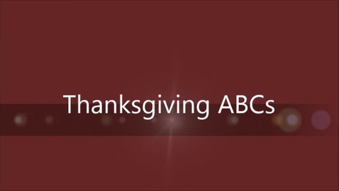 Thumbnail for entry Thanksgiving ABCs