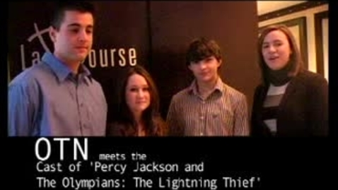 Thumbnail for entry Percy Jackson Interview