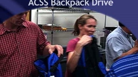 Thumbnail for entry ACSS Backpack Delivery