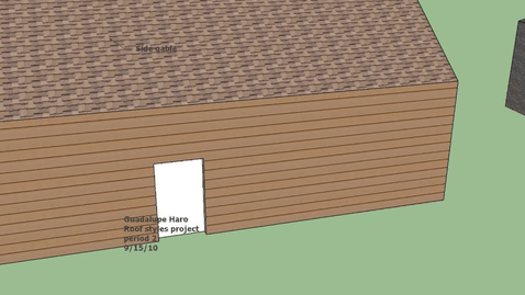 Thumbnail for entry Sketch up roofs