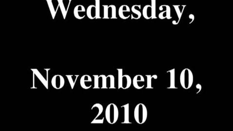 Thumbnail for entry Wednesday, November 10, 2010