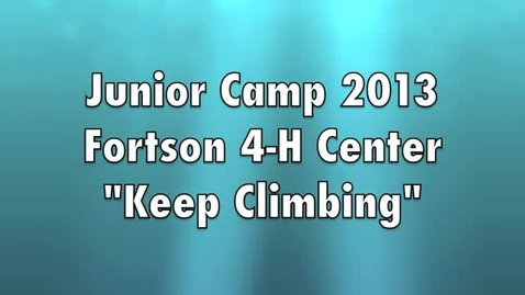 Thumbnail for entry 2013 Junior Camp at Fortson Promotional Video