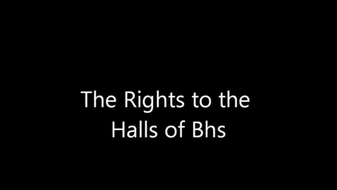 Thumbnail for entry The Rights To The Halls Of Bhs