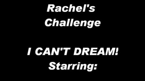 Thumbnail for entry PSA Rachel's Challenge