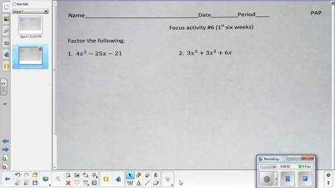 Thumbnail for entry Transformations of functions lesson pt 2  9-15-15