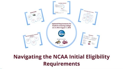 Thumbnail for entry Navigating the NCAA Initial Eligibility Requirements