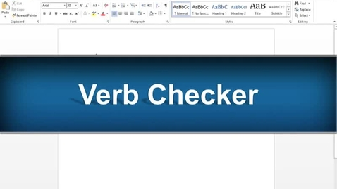 Thumbnail for entry Verb Checker Feature - Read&Write Gold Version 11