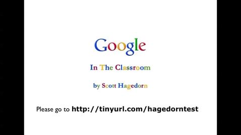Thumbnail for entry Google in the Classroom Intermediate