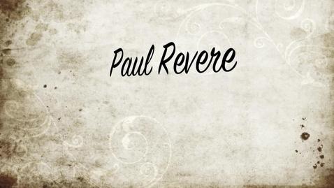 Thumbnail for entry Paul Revere