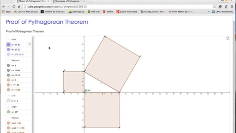 Thumbnail for entry Pythagorean Theorem and its Converse
