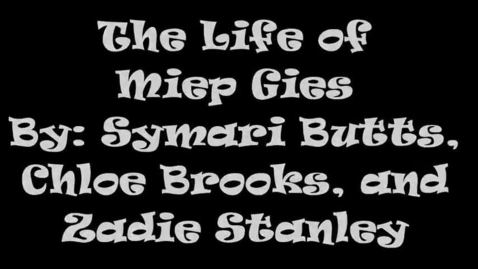 Thumbnail for entry Miep Gies 5B