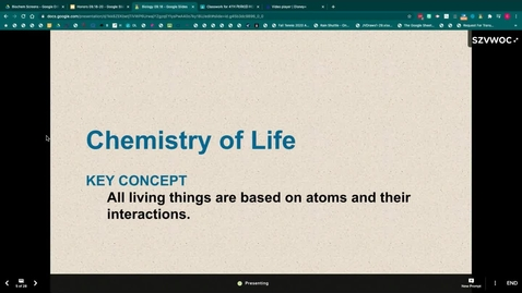 Thumbnail for entry Chemistry of Life & Water Notes