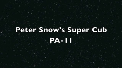 Thumbnail for entry Peter Snow's Super Cub PA-11