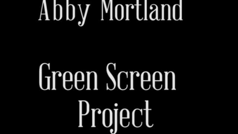 Thumbnail for entry Green Screen Project