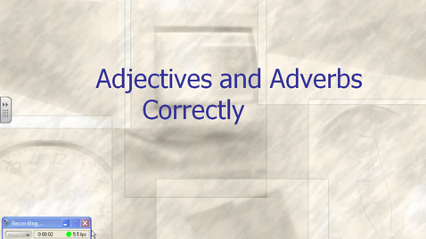 Thumbnail for entry Kerpan ELA grade 7 Unit 2 - Lesson 4 - adverbs and adjectives