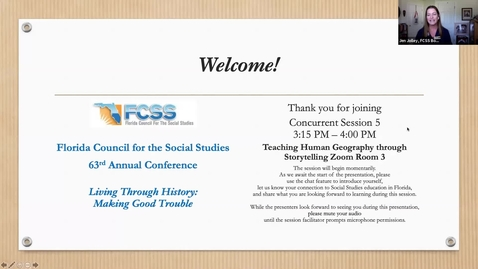 Thumbnail for entry FCSS Spring Virtual Conference Session: Teaching Human Geography through Storytelling