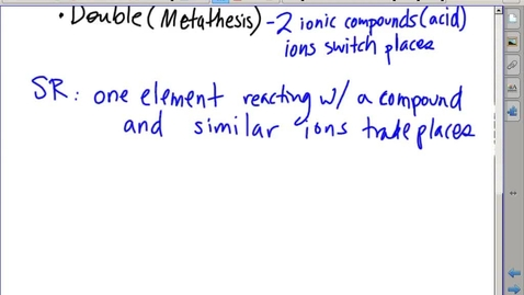 Thumbnail for entry Stephens Pre-AP Chemistry: Replacement (Displacement) Reactions (10-9-13)
