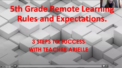 Thumbnail for entry Rules and Expectations for Distance Learning