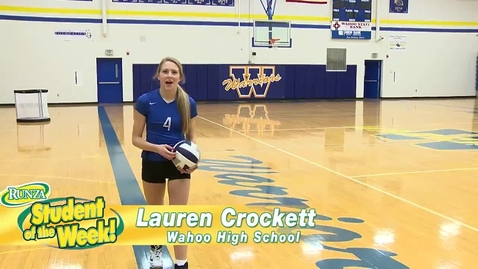 Thumbnail for entry Lauren Crockett: Runza's Student of the Week!