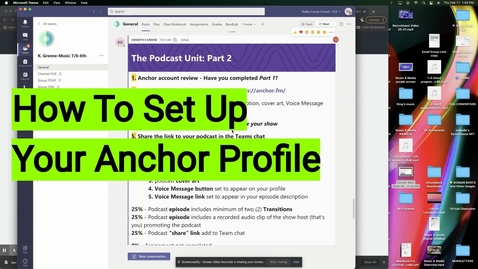 Thumbnail for entry How To Set Up Your Anchor Profile