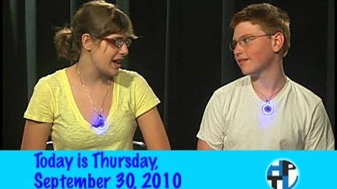 Thumbnail for entry Thursday, September 30, 2010
