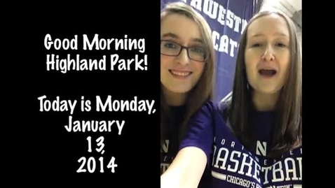 Thumbnail for entry Monday, January 13, 2014