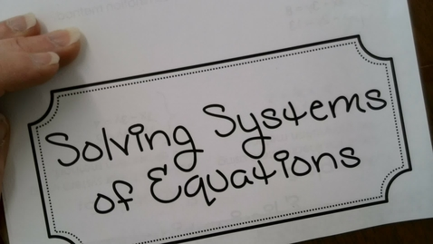 Thumbnail for entry Solving Systems of Equations with graphing Foundations