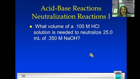 Thumbnail for entry Unit 4 Acid Base Neutralization Problem 1