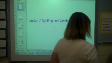 Thumbnail for entry 4th - Spelling Lesson 7