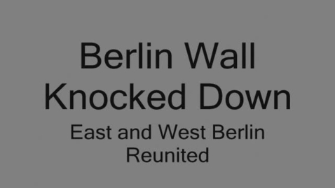 Thumbnail for entry Berlin Wall