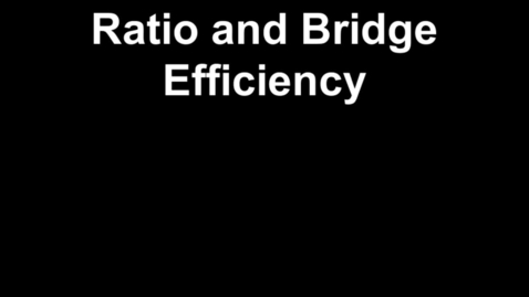 Thumbnail for entry Ms. Alexander teaches about bridge efficiency