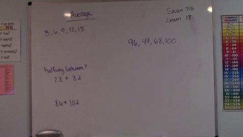 Thumbnail for entry Saxon 7/6 - Lesson 18 - Average