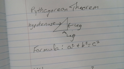 Thumbnail for entry Pythagorean Theorem