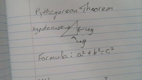 Thumbnail for entry Pythagorean Theorem