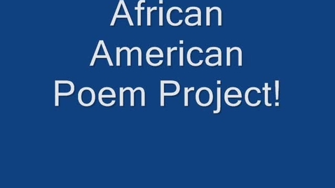 Thumbnail for entry Black History Poem Project