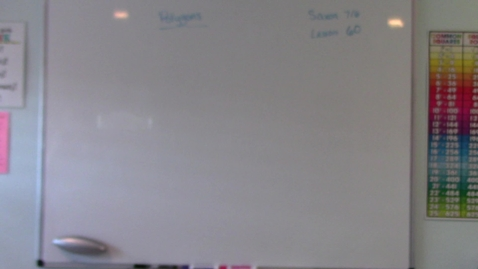 Thumbnail for entry Saxon 7/6 - Lesson 60 - Polygons