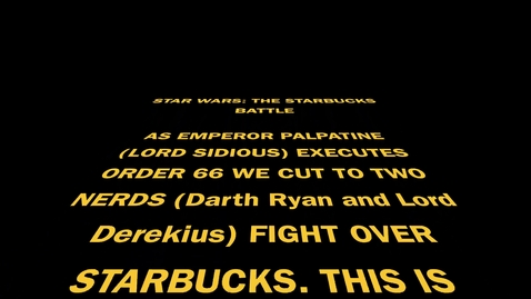 Thumbnail for entry Star Wars: The Coffee Wars