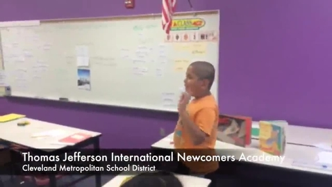 Thumbnail for entry Students sing their lessons at CMSD's International Newcomers Academy
