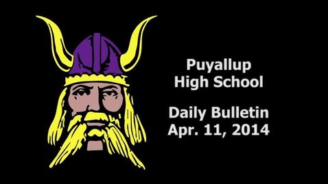 Thumbnail for entry PHS Daily Bulletin 04-11-14