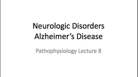 Thumbnail for entry Alzheimer's and Parkinson's Exam Review