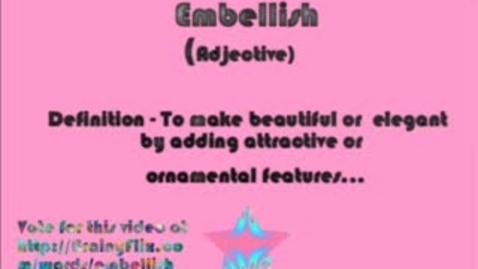 Thumbnail for entry Embellish