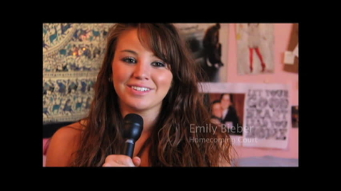 Thumbnail for entry Emily Bieber Homecoming Court 2011