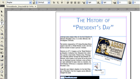 Thumbnail for entry Publishing InDesign